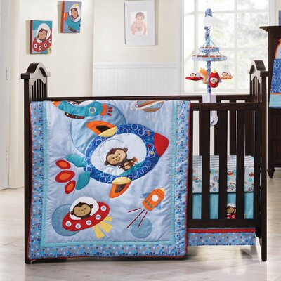 Kids Line Astro Monkey Crib Bedding Collection