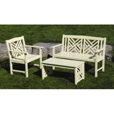 ACHLA Fretwork 2 Piece Bench Seating Group