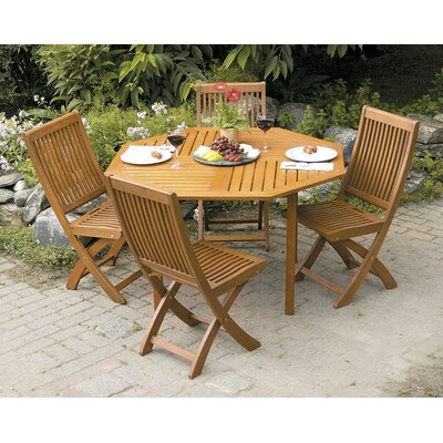 ACHLA Octagonal 5 Piece Dining Set
