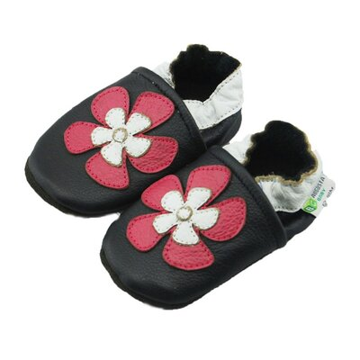 Aloha Flower Soft Sole Leather Baby Shoes