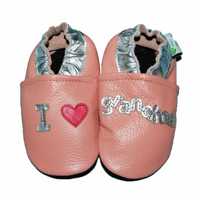 I Love Grandma Soft Sole Leather Baby Shoes