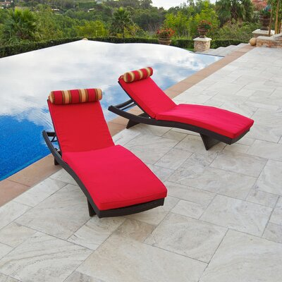 Cantina Wave Lounger with Cushion (Set of 2)