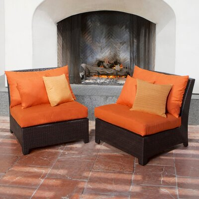 Tikka Armless Sectional Piece with Cushions (Set of 2)