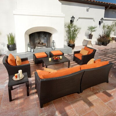 RST Outdoor Tikka 8 Piece Deep Seating Group with Cushions