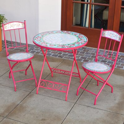 RST Outdoor Jaded Rose Decorative 3 Piece Bistro Set