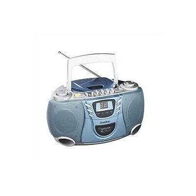 Hamilton Electronics Portable CD Player with Cassette and Radio