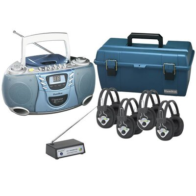 Hamilton Electronics 4 Person Wireless Val-U-Pack CD Listening Center