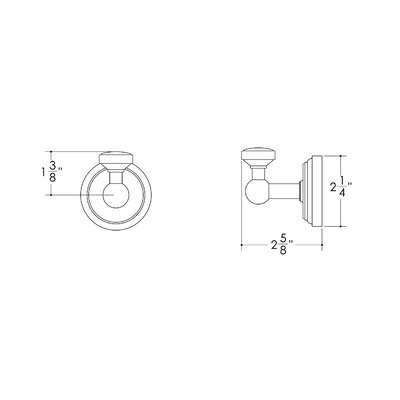 Hamilton Sinkler Bath Suites Single Robe Hook