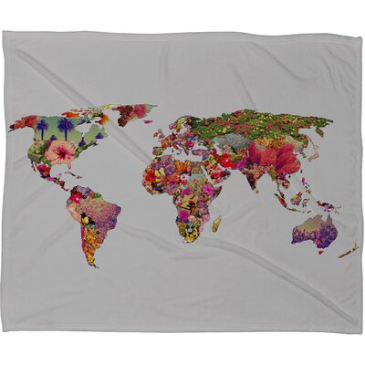 DENY Designs Bianca Green Its Your World Fleece Throw Blanket