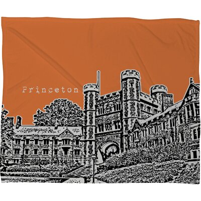DENY Designs Bird Ave Princeton University Fleece Throw Blanket