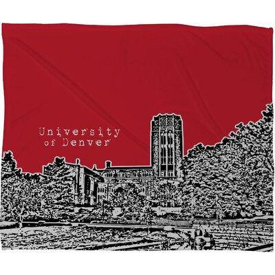 DENY Designs Bird Ave University of Denver Fleece Throw Blanket