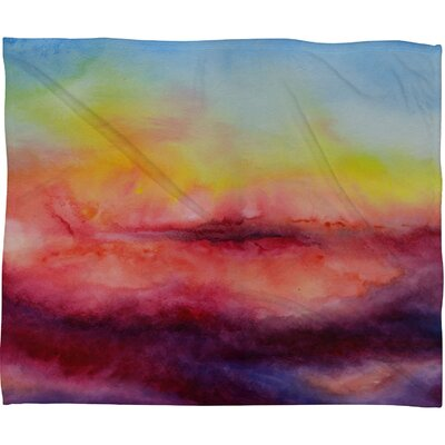 DENY Designs Jacqueline Maldonado Kiss Of Life Fleece Throw Blanket