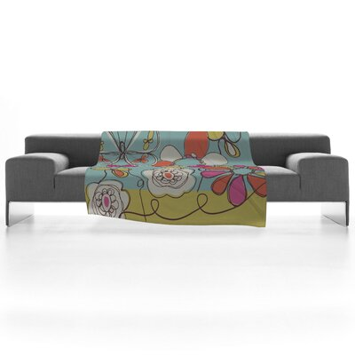 DENY Designs Rachael Taylor Fun Floral Polyester Fleece Throw Blanket