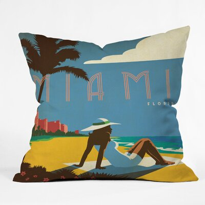DENY Designs Anderson Design Group Miami Indoor/Outdoor Polyester Throw Pillow