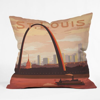 DENY Designs Anderson Design Group St Louis Indoor/Outdoor Polyester Throw Pillow
