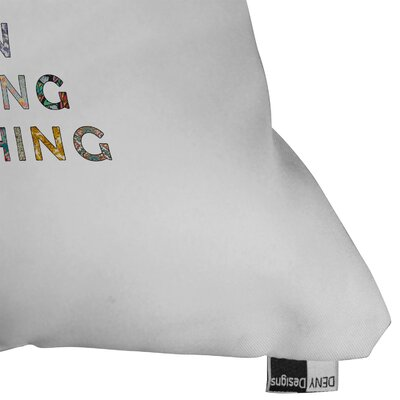 DENY Designs Bianca Green Her Daily Motivation Indoor/Outdoor Polyester Throw Pillow