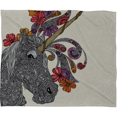 DENY Designs Valentina Ramos Unicornucopia Fleece Throw Blanket