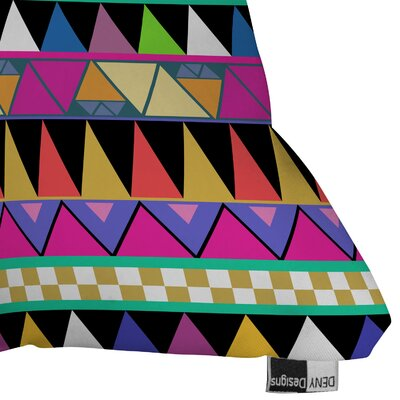 DENY Designs Bianca Green Zigzag Indoor/Outdoor Polyester Throw Pillow