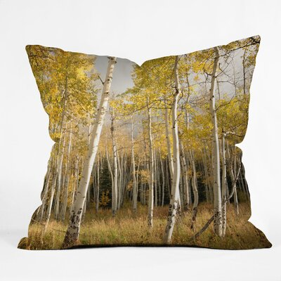 DENY Designs Bird Wanna Whistle Aspen Indoor/Outdoor Polyester Throw Pillow