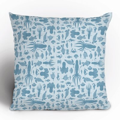DENY Designs Jennifer Denty Sea Creatures Polyester Throw Pillow