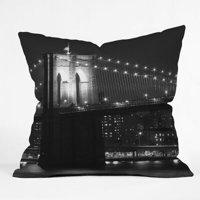 DENY Designs Leonidas Oxby Brooklyn 125 Indoor / Outdoor Polyester Throw Pillow