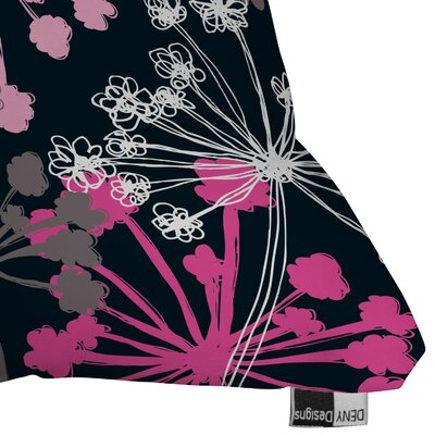 DENY Designs Rachael Taylor Cow Parsley Indoor / Outdoor Polyester Throw Pillow