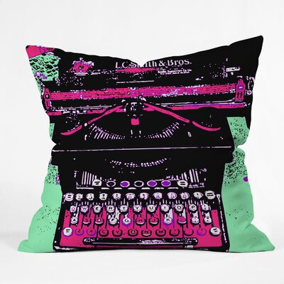 DENY Designs Romi Vega Polyester Typewriter Indoor / Outdoor Throw Pillow