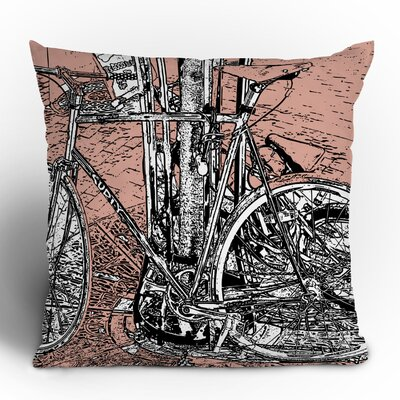 DENY Designs Romi Vega Bike Polyester Throw Pillow