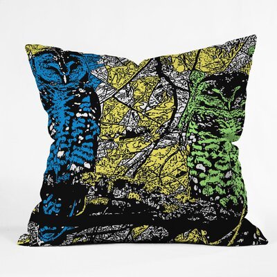 DENY Designs Romi Vega Bright Owl Polyester Throw Pillow