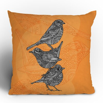 DENY Designs Valentina Ramos 3 Little Birds Polyester Throw Pillow