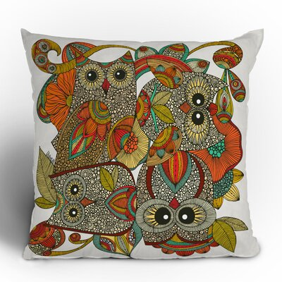 DENY Designs Valentina Ramos 4 Owls Polyester Throw Pillow