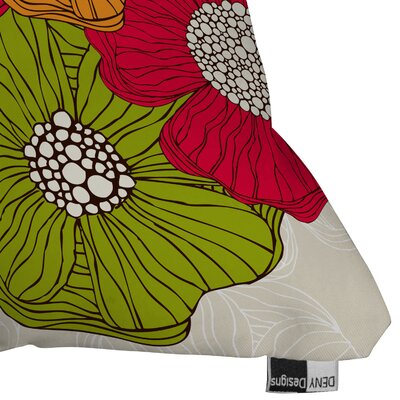 DENY Designs Valentina Ramos Flowers Indoor/Outdoor Polyester Throw Pillow