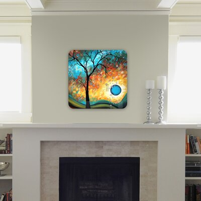 DENY Designs Madart Inc. Aqua Burn Wall Art