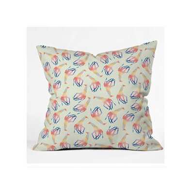 DENY Designs Jacqueline Maldonado Watercolor Giraffe Throw Pillow