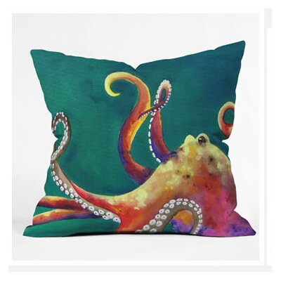 DENY Designs Clara Nilles Mardi Gras Octopus Woven Polyester Throw Pillow
