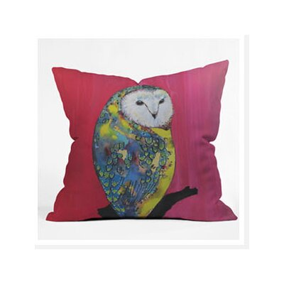 DENY Designs Clara Nilles Owl on Lipstick Woven Polyester Throw Pillow