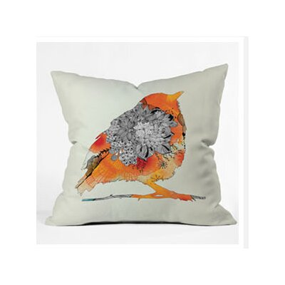 DENY Designs Iveta Abolina Orange Bird Throw Pillow