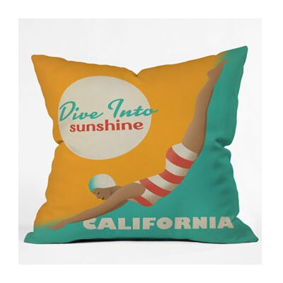 DENY Designs Anderson Design Group Dive California Throw Pillow