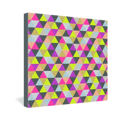 DENY Designs Bianca Green Ocean of Pyramid Gallery Wrapped Canvas
