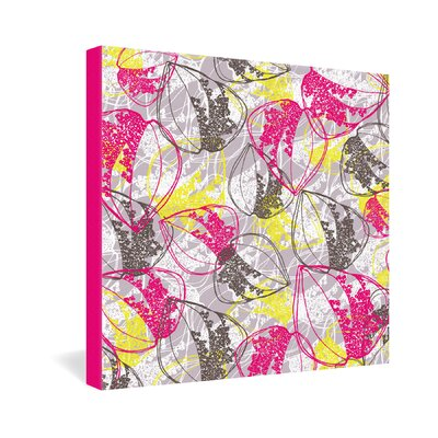 DENY Designs Rachael Taylor Organic Retro Leaves Gallery Wrapped Canvas