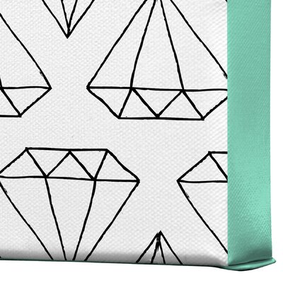DENY Designs Wesley Bird Diamond Print 2 Gallery Wrapped Canvas