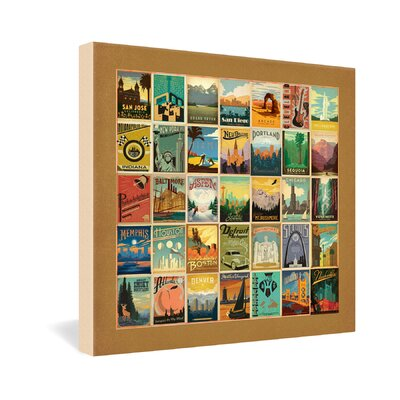 DENY Designs Anderson Design Group City Pattern Border Gallery Wrapped Canvas