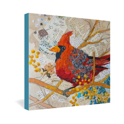 DENY Designs Elizabeth St Hilaire Nelson Cardinal On White Gallery Wrapped Canvas