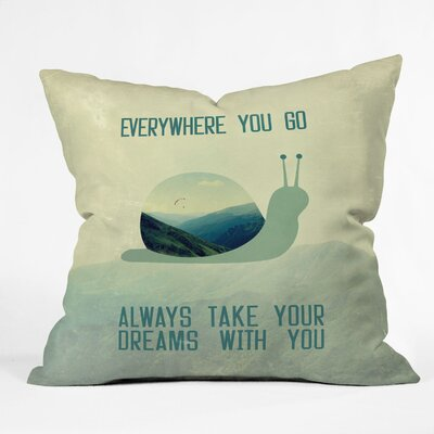 DENY Designs Belle13 Always Take Your Dreams with You Polyester Throw Pillow
