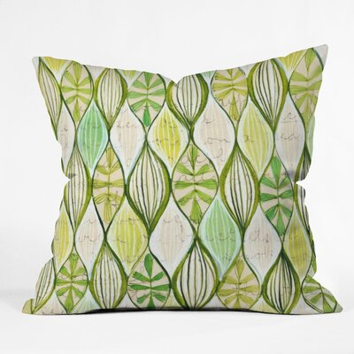 DENY Designs Cori Dantini Green Polyester Throw Pillow