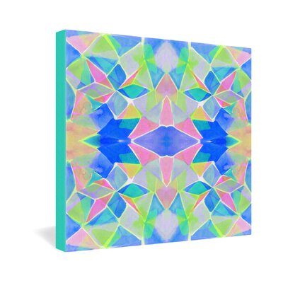 DENY Designs Amy Sia Chroma Blue Gallery Wrapped Canvas