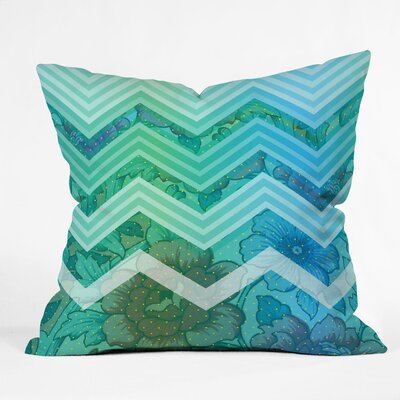 DENY Designs Gabi Azul Polyester Throw Pillow