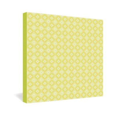 DENY Designs Caroline Okun Yellow Spirals Gallery Wrapped Canvas