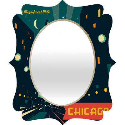 DENY Designs Anderson Design Group Chicago Mag Mile Quatrefoil Mirror