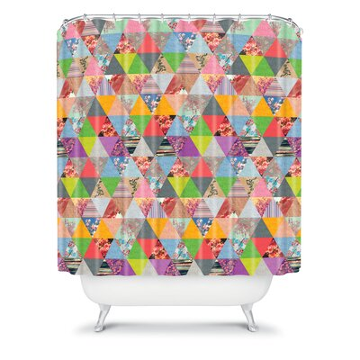 DENY Designs Bianca Woven Polyester Lost in Pyramid Shower Curtain